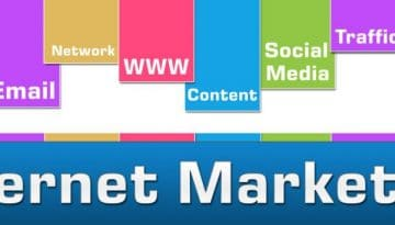 Internet Marketing Colorful Stripes